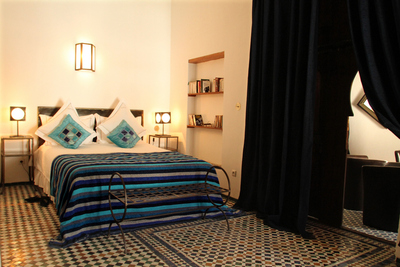Riad Laaroussa Blue Room