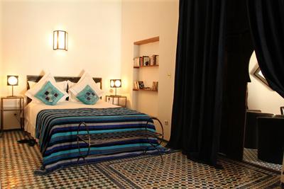 Riad Laaroussa Blue Room